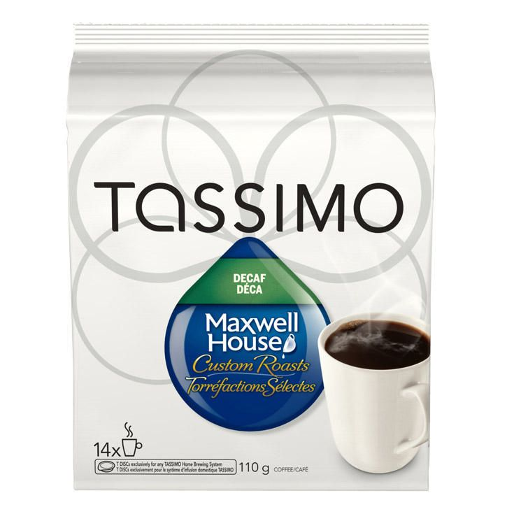 Tassimo Maxwell House DECAFFEINATED T-Discs 14ct CLEARANCE