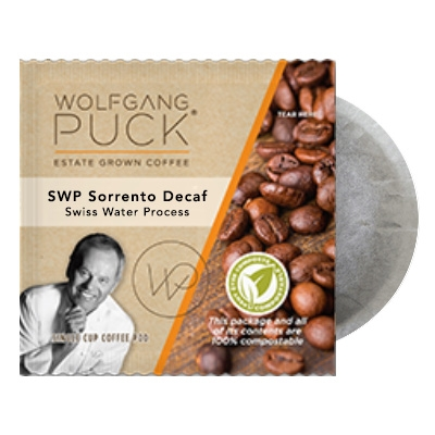 Wolfgang Puck SWP Sorrento DECAF Coffee Pods 18ct