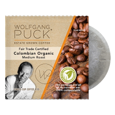 Wolfgang Puck Colombian FTO Coffee Pods 18ct