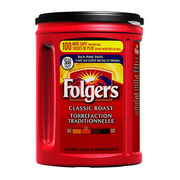 Folgers Classic Roast Ground Coffee 1.36 kg