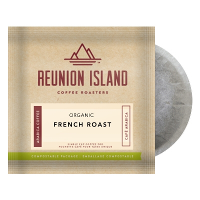 Reunion Island Organic French Roast Coffee Pods 16ct