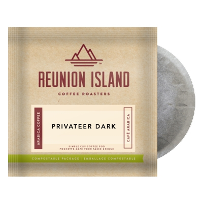 Reunion Island Privateer Dark Coffee Pods 16ct