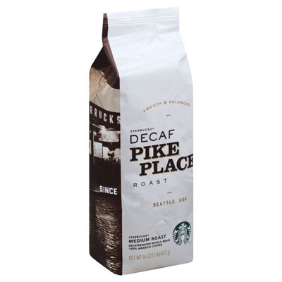 Starbucks Decaf Pike Place Coffee 1lb Custom Ground