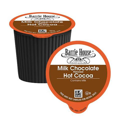 Barrie House Milk Chocolate Hot Cocoa Pods 24ct CLEARANCE