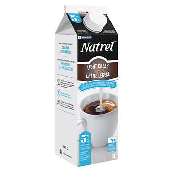 natrel 5 light coffee cream 1 l