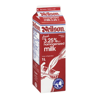 Neilson 3.25% Homogenized Milk - 1L