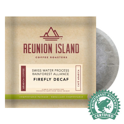 Reunion Island Firefly DECAF Coffee Pods 16ct