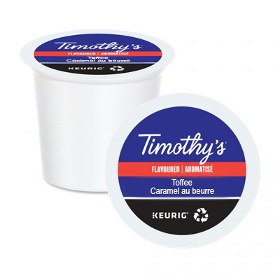 Timothy's Toffee Flavoured Coffee K-Cups 24ct